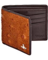 Vivienne Westwood | Grained Leather Ponyskin Front Brown Wallet | Lyst