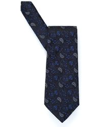 Etro - Small Floral Paisley Print Tie - Lyst