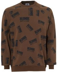 BBCICECREAM - Repeat Print Sweat, Crew Neck Taupe Jumper - Lyst