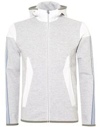 BOSS Athleisure - Selnio Hoodie, Panelled White Hooded Sweatshirt - Lyst