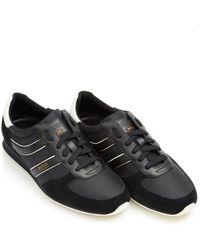 BOSS Orange | Orland_runn_ny Trainers, Side Stripe Black Trainers | Lyst