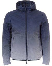 Armani Jeans - Faded Jacket, Reversible Hooded Navy Blue Jacket - Lyst