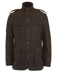 Barbour - Lifestyle Jacket, Dock Wax Olive Green Coat - Lyst
