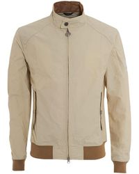 Barbour - International Jacket, Harrington Fog Beige Coat - Lyst