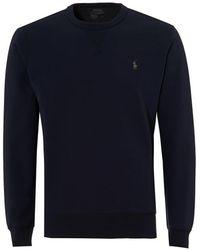Ralph Lauren - Crew Neck Sweatshirt, Navy Blue Jumper - Lyst