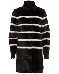 Armani Jeans - Faux Fur With Striped Pattern - Lyst
