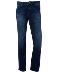 BOSS - Maine Light Weight Denim Mid Wash Jeans - Lyst