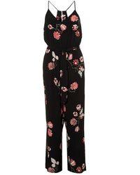 I Blues - Tunisi Floral Print Black Jumpsuit - Lyst