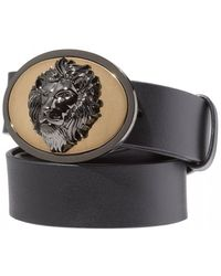 a02c778ea58dc4 Gucci Wolf-head Leather Belt in Black for Men - Lyst