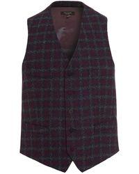 Holland Esquire - Waistcoat, Houndstooth Welsh Blanket Navy Blue Waistcoat - Lyst
