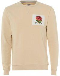 Kent & Curwen - Rose Embroidered 1926 Sweatshirt, Off White Sweat - Lyst