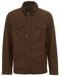 Barbour - International Arizona Wax Jacket, Biker Brown Coat - Lyst