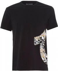 True Religion - Side Camo Horseshoe T-shirt, Washed Black Tee - Lyst