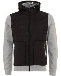 BOSS - Sarun Hoodie, Contrast Front Grey Sweatshirt - Lyst