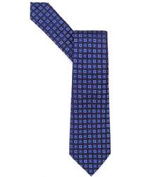 Emporio Armani - Tie, Small Squares Silk Blue Tie - Lyst