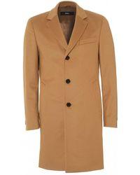BOSS Nye2 Formal Camel Slim Fit Coat - Natural