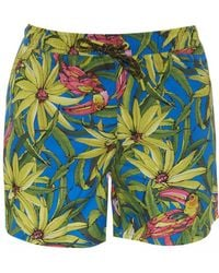 BOSS Threadfin Swimming Shorts, Floral Print Swimming Trunks - Multicolor