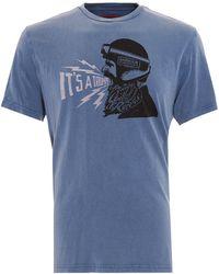 Barbour - International Triumph T-shirt, Gentlemen Triumph Blue Tee - Lyst