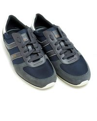 BOSS by Hugo Boss - Orland_runn_ny Dark Blue Trainers, Low-top Suede Trainers - Lyst