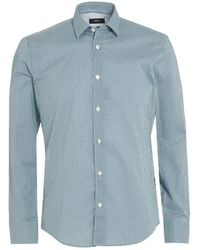 BOSS Black | Reid 27 Shirt, Mint Green Honeycomb Slim Shirt | Lyst