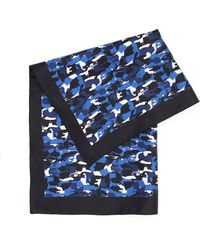 BOSS Black   Pocket Square Silk Dark Blue Camouflage Scarf   Lyst