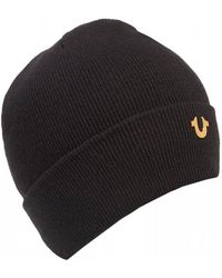 True Religion - Metal Logo Beanie - Lyst