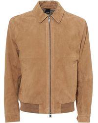 BOSS Avelan Jacket, Aviator Style Goats Suede Beige Jacket
