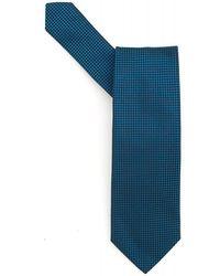 BOSS Black - Tie Green Micro Square Silk Tie - Lyst