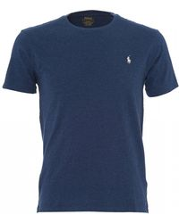 Ralph Lauren - Basic Logo T-shirt, Derby Blue Heather Tee - Lyst
