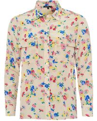 Toupy - Gala Shirt, All Over Flower Print Blouse - Lyst