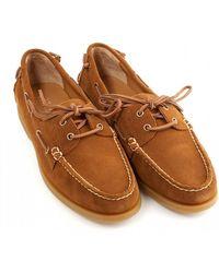 Ralph Lauren - Classic Suede Newport New Snuff Brown Boat Shoes - Lyst