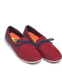 Swims - Breeze Lace Loafer, Lace Trim Deep Red Shoes - Lyst