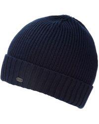 BOSS Athleisure - C-fati2 Beanie, Ribbed Wool Navy Blue Hat - Lyst