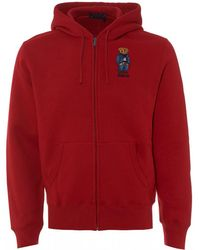 Ralph Lauren - Bear Polo Zip Hoodie, Ralph Red Hooded Sweatshirt - Lyst