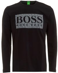 BOSS - Togn Regular Fit Long Sleeved Top - Lyst