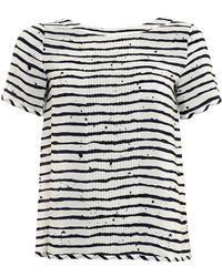 I Blues - Rigelo Top, White Navy Stripe T-shirt - Lyst
