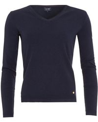Armani Jeans - Jumper, Navy Blue V-neck Sweater - Lyst