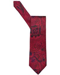Etro - All Over Paisley Print Red Tie - Lyst