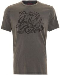 Barbour - International Triumph T-shirt, Gentlemen Graphic Text Charcoal Tee - Lyst