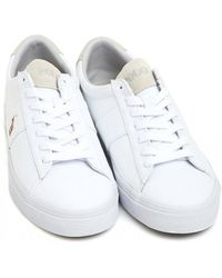 Ralph Lauren - White Canvas Trainers, Sayer Trainers - Lyst
