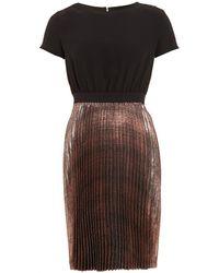I Blues - Prisca Metallic Pleated Dress - Lyst