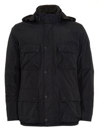 Barbour - International Coat, Capacitor Waterproof Black Jacket - Lyst