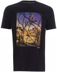 c869164e BOSS - Teear 1 T-shirt, Black Photographic Desert Print Tee - Lyst
