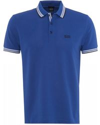 00ad87ab Lyst - Paul & Shark Men's Smart Knitted Polo Shirt - Cobalt Blue ...