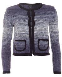 Armani Jeans - Cardigan, Navy Blue Trim Ombre Jacket - Lyst