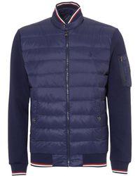 Ralph Lauren - Tech Hybrid Jacket, Double Knit Navy Blue Coat - Lyst