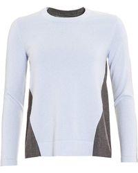 D. EXTERIOR - Jumper, Contrast Cashmere Blend Blue Grey Sweater - Lyst
