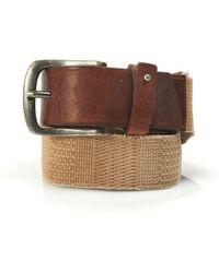 BOSS by Hugo Boss - Belt, Beige Canvas And Leather 'jimmox' Belt - Lyst