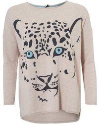 Cocoa Cashmere - The Leopard Jumper, Oatmeal Beige Print Sweater - Lyst