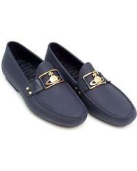 Vivienne Westwood | Orb Loafer, Rubberised Branded Navy Blue Moccasin Shoes | Lyst